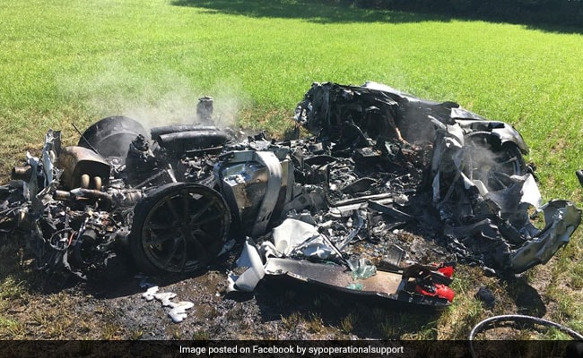 Hour-Old Ferrari Bursts Into Flames, Driver Escapes Miraculously. See Pics
