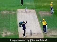 Watch: Hit On Head By Powerful Straight Drive, Bowler Sustains Horrific Injury