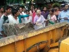 मध्यप्रदेश : बड़वानी में सरदार सरोवर के डूब क्षेत्र में आ रहे गांधी स्मारक को हटाने पर हंगामा