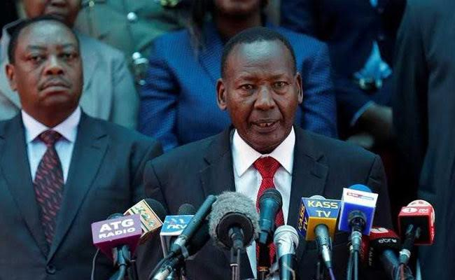 Kenya Interior Minister General Joseph Nkaissery Dies In Hospital