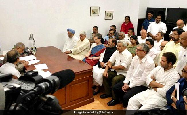 Gopalkrishna Gandhi Files Nomination For Vice President