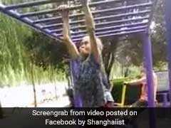 Grandma Swings On Monkey Bar Like It's No Big Deal. And Your Excuse Is?