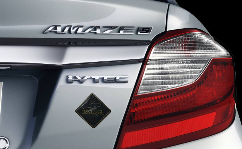 Honda Amaze Privilege Edition launched