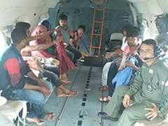 Air Force Rescues Pregnant Woman, New-Born Twins With Mother From Flooded Village