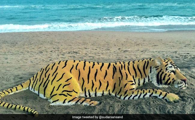 On International Tiger Day, Sudarsan Pattnaik's Sand Art Wins Social Media