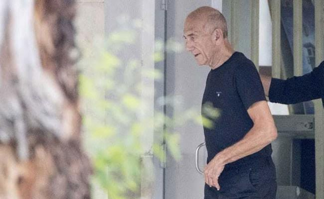 Former PM Olmert Released From Jail, Asks Rivlin to Commute Sentence
