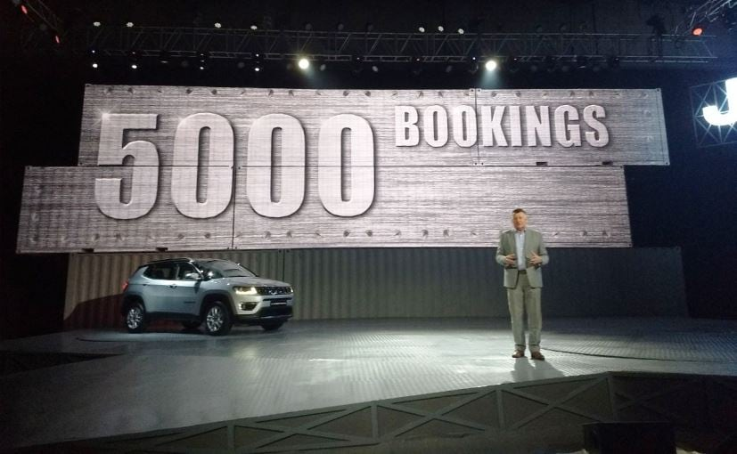 Jeep Compass Receives 5000 Bookings, Deliveries To Start From August