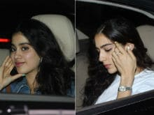 Jhanvi Kapoor Joined By Sara Ali Khan, Ishaan Khattar At <I>MOM</i> Screening