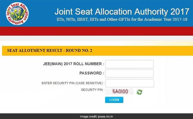 josaa 2017 2nd round seat allotment