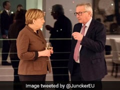 Call Interrupts Press Meet. On The Phone, German Chancellor Angela Merkel
