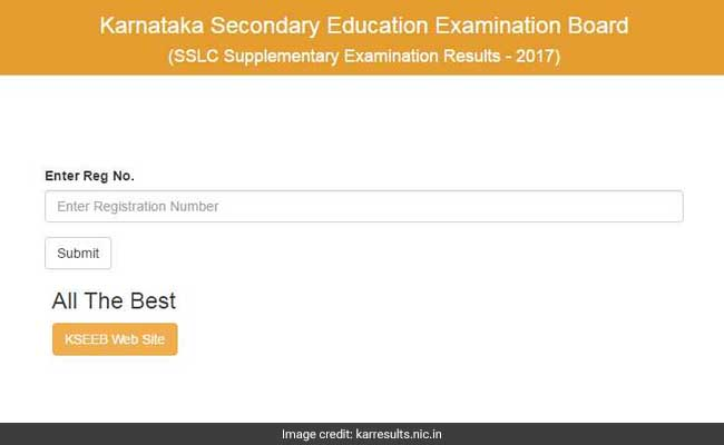 Karnataka SSLC Supplementary Results 2017 Declared@ kseeb