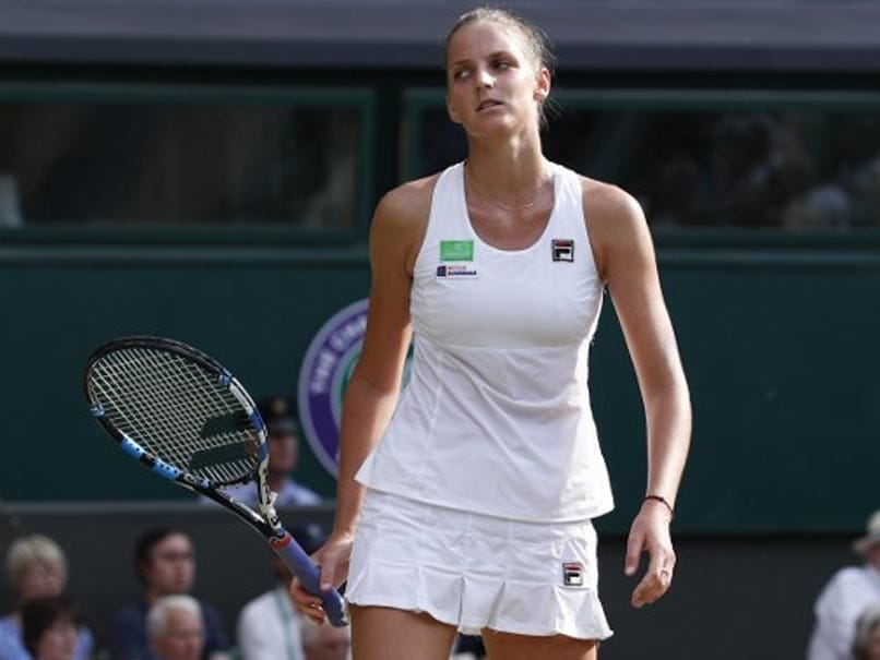Wimbledon 2017: Title Favourite Karolina Pliskova Crashes Out