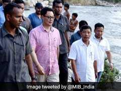 Kiren Rijiju Visits Arunachal Pradesh Landslide Victims, Promises Help