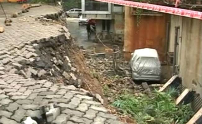 Road Caves In After Heavy Rains At Mumbai's Upscale Pali Hill