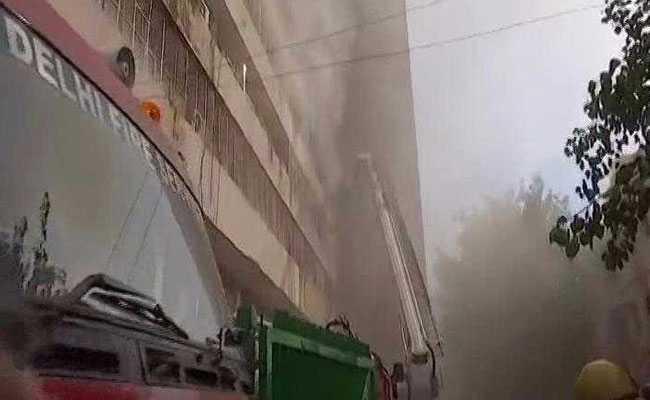 दिल्ली के लोकनायक भवन में लगी आग, किसी के हताहत होने की खबर नहीं