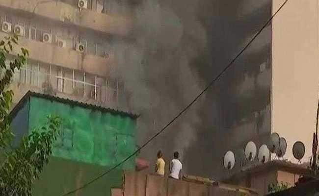 Huge Fire At Delhi's Lok Nayak Bhawan, 26 Fire Engines Sent In