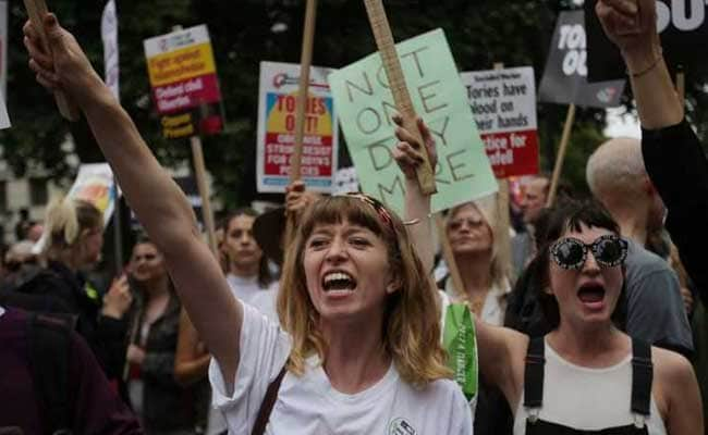 Thousands In London Protest Against Austerity, Prime Minister Theresa May