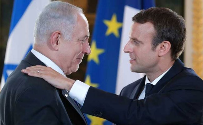 Emmanuel Macron Chides Israel PM Benjamin Netanyahu On Settlements, Urges New Mideast Talks