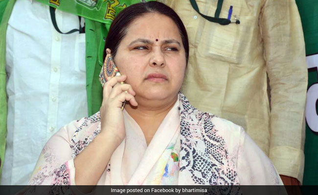 Lalu Yadav's Daughter Misa Bharti's Delhi Home Raided In Corruption Case