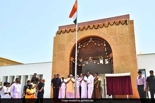 Prime Minister Narendra Modi Inaugurates APJ Abdul Kalam Memorial In His Hometown Rameswaram
