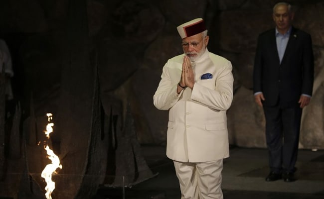 PM Narendra Modi Visits Holocaust Memorial In Israel