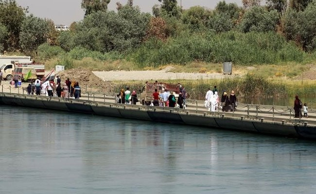 Iraqi Bridge Is Sole Link For Mosul Residents Rebuilding Lives
