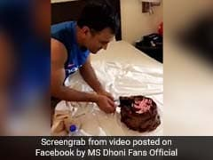 Watch How MS Dhoni Celebrated His Birthday With Wife Sakshi And Hardik Pandya