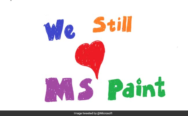 Microsoft Paint 'Here To Stay'. Internet Breathes A Sigh Of Relief