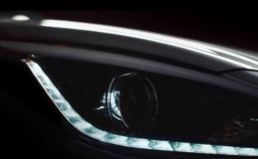 new hyundai verna headlamps and drls