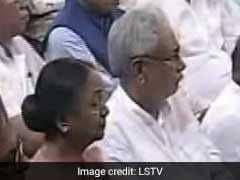 राष्ट्रपति शपथ ग्रहण : मीरा कुमार के बगल में नजर आए नीतीश कुमार, किया था विरोध
