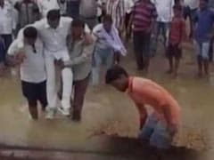 Odisha Law-Maker From Chief Minister's Party Carried Over Muddy Stretch