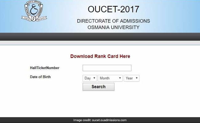 oucet 2017 rank cards