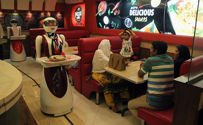 pakistan robot waitress afp