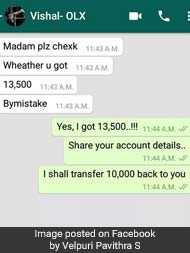 Woman Almost Scammed By OLX Buyer Warns Others Of Online