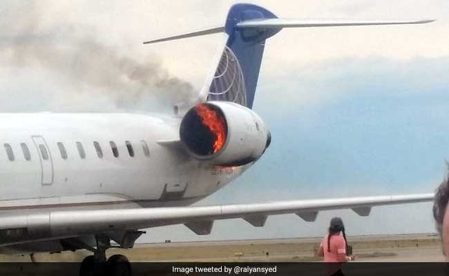 Video: United Plane Catches Fire On Landing, Everyone Evacuated Safely