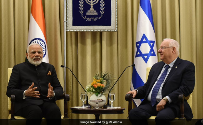 PM Narendra Modi Calls On Israeli President, Discusses Ways To Boost Ties