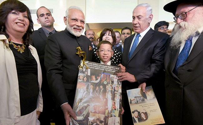 Image result for Narendra-Modi-and-Moshe-Holtzberg