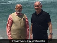 A Stroll On Beach By PM Modi, Israel's Netanyahu Makes Waves