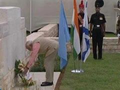 PM Narendra Modi Visits Haifa, Pays Homage To Indian World War I Heroes