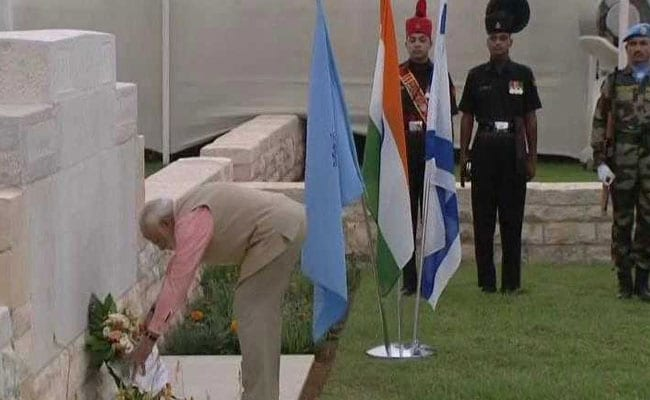 On Day 3, PM Modi Visits Haifa Cemetery, Pays Homage To Indian World War I Heroes