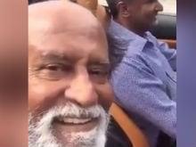 Rajinikanth Is <I>Ferrari Ki Sawari</i> In His First Selfie Video. Watch Here