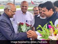 NDA Presidential Candidate Ram Nath Kovind Arrives In Mumbai To Meet MPs And Legislators