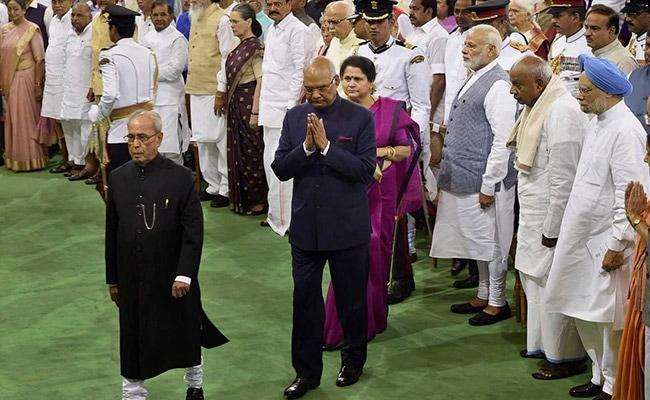 ram nath kovind pranab mukherjee parliament pti