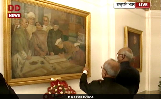 ramnath kovind and pranab mukherjee