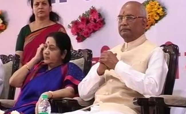 भोपाल पहुंचे एनडीए के राष्ट्रपति पद के उम्मीदवार रामनाथ कोविंद, मांगा समर्थन