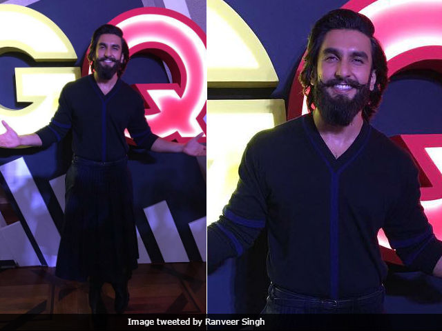 Ranveer Singh Attended An Event Wearing Kilt. Deepika Padukone's Reaction Is Priceless