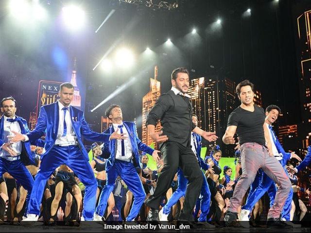 IIFA Awards 2017: Judwaas Salman Khan And Varun Dhawan Dance To Tan Tana Tan Tan Tara