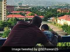 India Vs West Indies: Shikhar Dhawan Enjoys Kingston's Natural Beauty With Son Zoravar