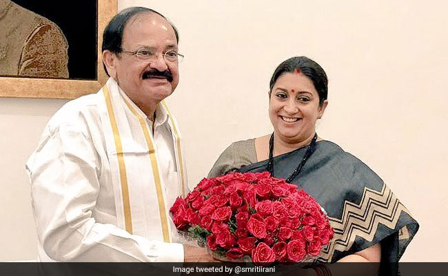 Smriti Irani Gets Additional Charge Of Information And Broadcasting Ministry After Venkaiah Naidu Resigns