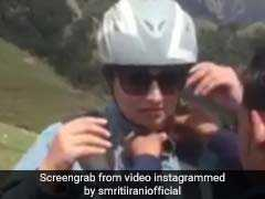 Seen This Video Of Smriti Irani Paragliding? It Comes With A Witty Caption